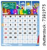 Monthly calendar September - Vector file contains separate layers: US Style, start on Sunday + Europe Style, start in Monday. - stock vector