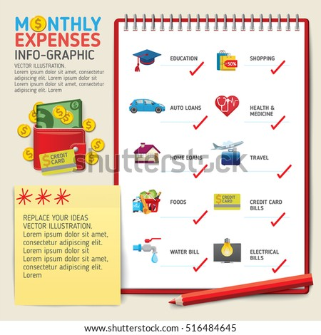 Web Design Project Ideas view source Monthly Expenses Infographics Concept Use For Business Marketing Creative Web Design And