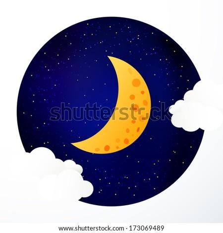 Moon background - stock vector