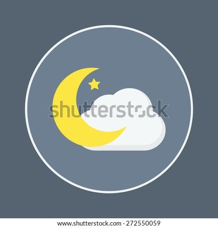 moon icon - stock vector