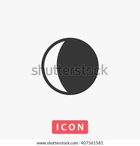 Moon Icon. Moon Icon Vector. Moon Icon Art. Moon Icon eps. Moon Icon Image. Moon Icon logo. Moon Icon Sign. Moon Icon Flat. Moon Icon design. Moon icon app. Moon icon UI. Moon icon web. Moon icon grey - stock vector