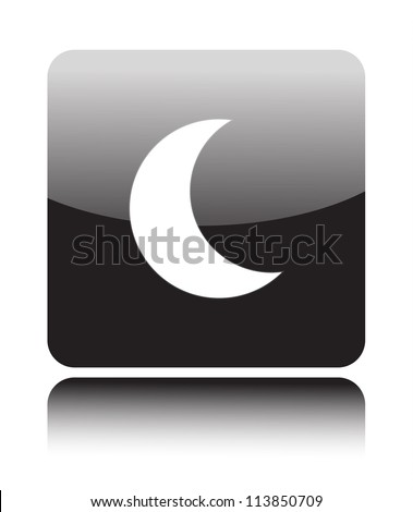 Moon icon on back button (sleeping mode) - stock vector