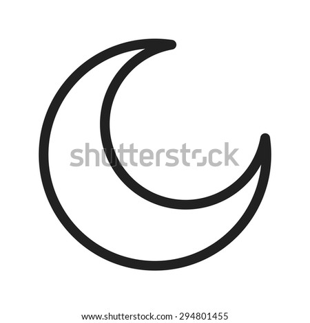 Moon, night, light icon vector image.Can also be used for halloween, celebration, observances and holidays. Suitable for mobile apps, web apps and print media.