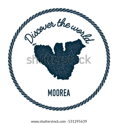 Tasmania map vintage discover world rubber vectores en stock moorea map in vintage discover the world rubber stamp hipster style nautical postage moorea stamp gumiabroncs Choice Image