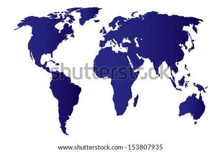 morld map - stock vector