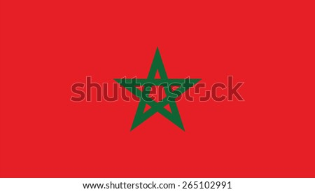 morocco Flag for Independence Day and infographic Vector illustration. - stock vector