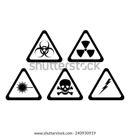 mortal danger signs - stock vector