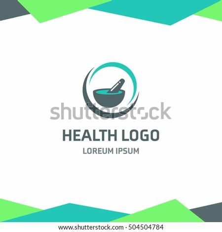 mortar pestle health logo abstract medical vectores en stock 504504784 shutterstock. Black Bedroom Furniture Sets. Home Design Ideas