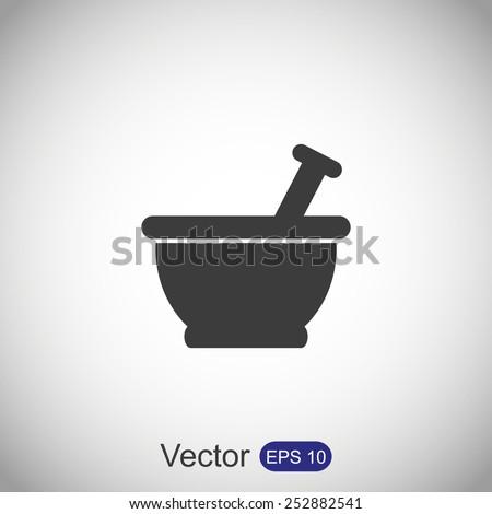 Mortar and pestle icon - stock vector