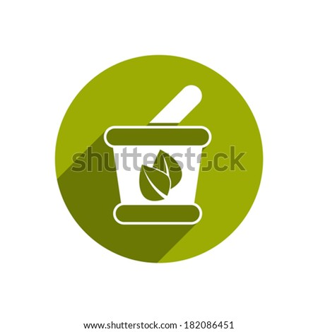 Mortar and Pestle vector icon isolated. - stock vector