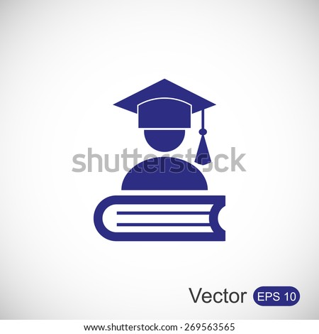 Mortar Board or Graduation Cap - stock vector