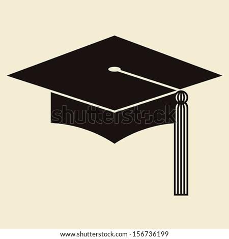 Mortar Board or Graduation Hat, Education symbol - stock vector