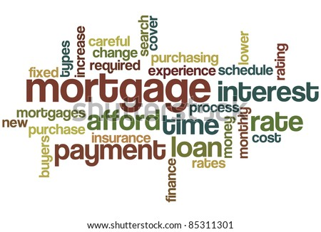 Mortgage Word Cloud - stock vector