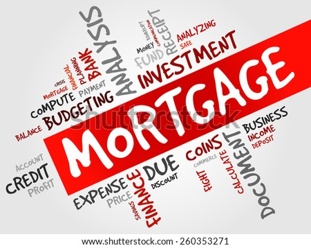 MORTGAGE word cloud, business concept - stock vector