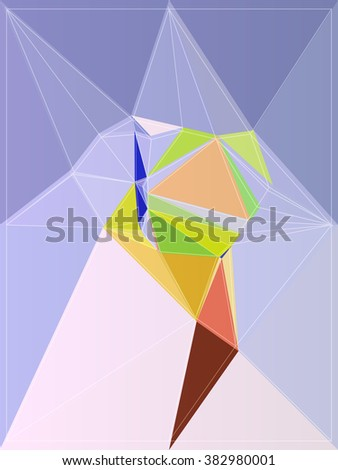 mosaic color polygon modern origami style colorful