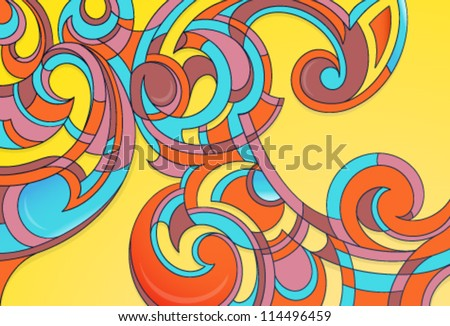 Mosaic decorative ornament as abstract backdrop - stock vector