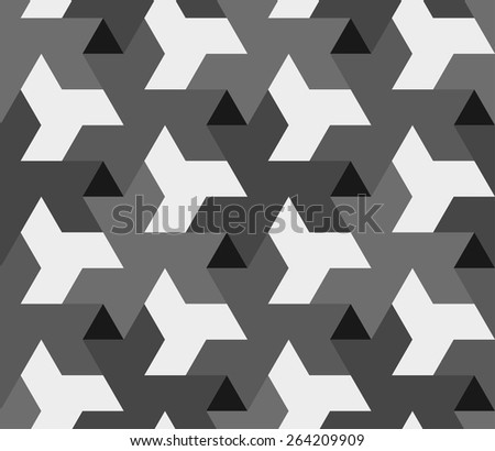Mosaic gray triangle pattern