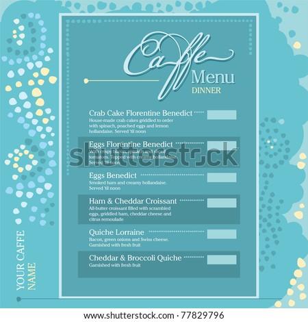 Mosaic Menu Caffee - stock vector