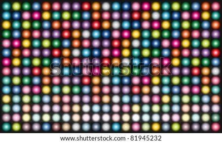Mosaic Rainbow Lights  Background ( EPS10 Vector) - stock vector
