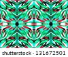 Mosaic, template of a pattern for glass, leaves, a grass, a rainbow, wall-paper. EPS10 - stock photo
