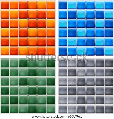 mosaic tile - 4 colors to choose from - stock vector