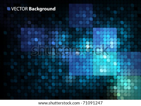mosaic vector background with space for Your text - stock vector