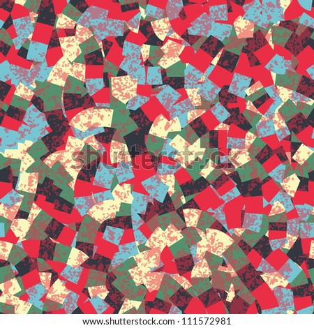 Mosaic vector seamless pattern. Can be used for pattern fills, web page background, surface textures, wallpaper, textile.