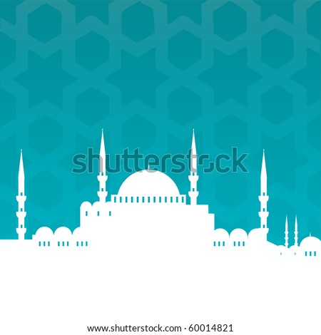 mosque - stock vector