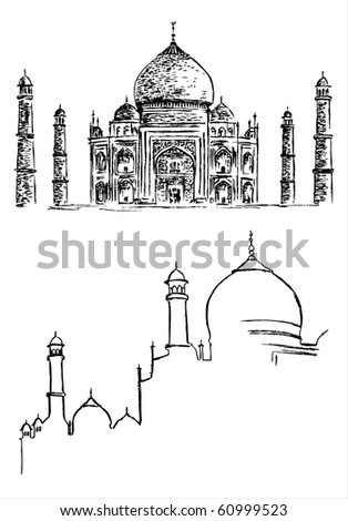 Mosque - hand drawing - stock vector