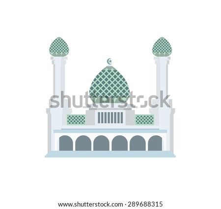 mosque simple illustration - stock vector