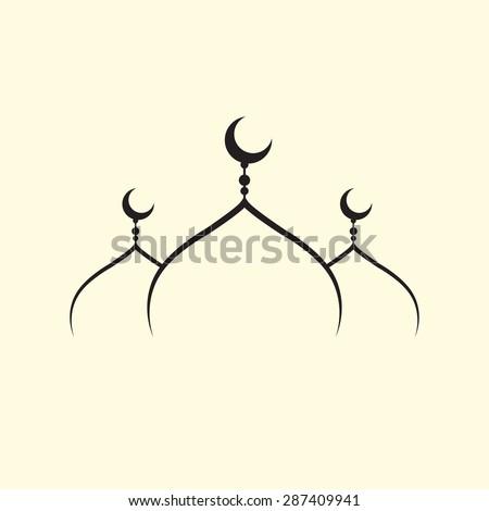 mosque vector - stock vector