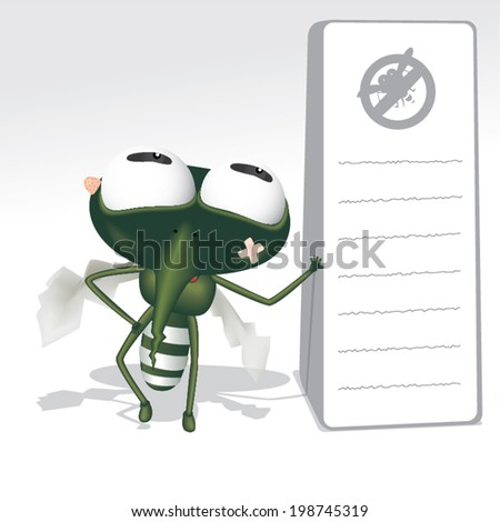 Mosquito repellent product vector , insecticide , stop mosquito sign. Vector illustration - stock vector