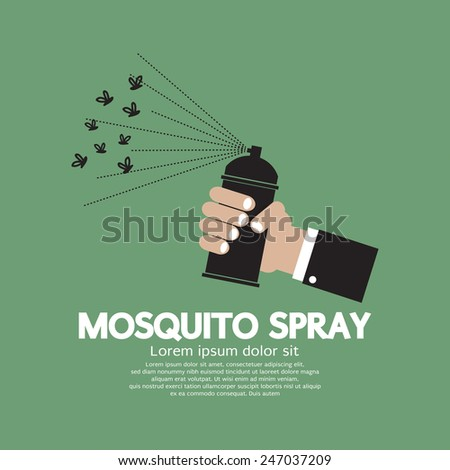 Mosquito Spray In hand Vector Illustration - stock vector