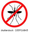 Mosquito vector silhouette. Insect reppelent emblem . - stock photo