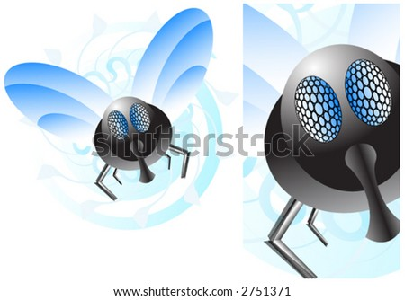 Most annoying creature ever - stock vector