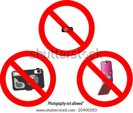 "Most useful contemporary signs tells ""Photography not allowed!"" (No cameras)"