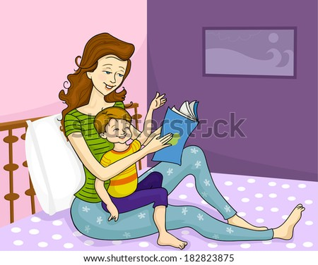 Mother and child - Vector illustration - stock vector