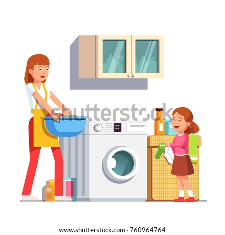 Doing housework Mom