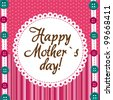 mother day over cute background with buttons. vector - stock vector