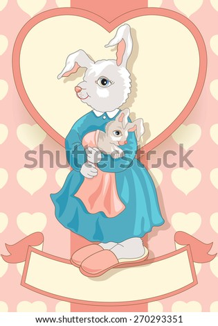 Mother's Day also Between Animals - stock vector