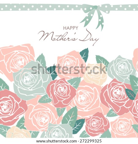 Mother's Day card - stock vector