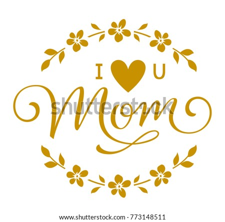 Mothers Day Greeting Floral Circle Frame Stock Vector (Royalty Free ...