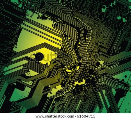 Motherboard detail - vector illustration - stock vector