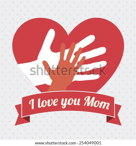 Mothers day  card design, vector illustration. - stock vector