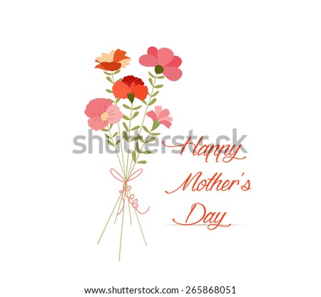 mothers day Cute bouquet of flowers - stock vector
