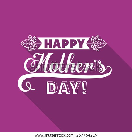 Mothers day design over purple background, vector illustration - stock vector