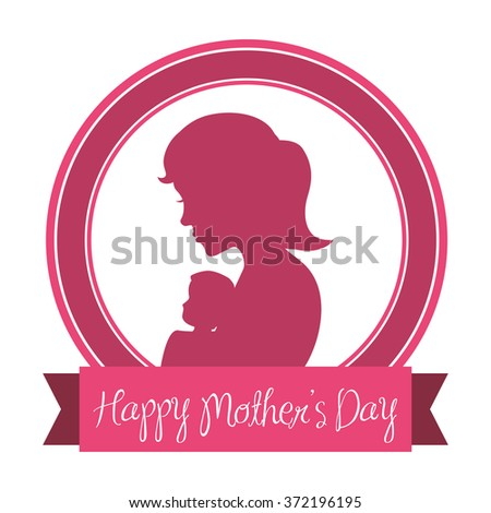 mothers day vector - stock vector