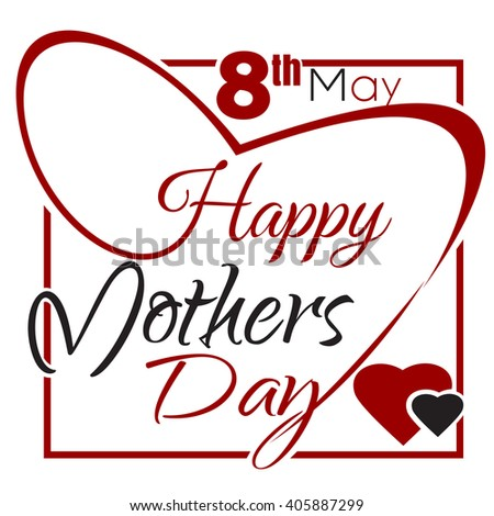 Mothers's Day typographical background. Happy Mothers Day. Typographic design. Vector vintage greeting card with lettering. Happy Mothers Day lettering card. Vector illustration - stock vector