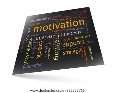 Motivation as a concept - word cloud marketing graphic theme - stock vector
