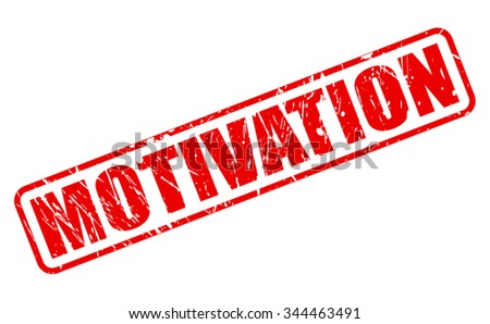 MOTIVATION red stamp text on white - stock vector